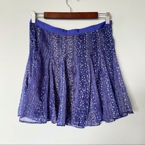American Eagle Purple & Blue Floral Skirt Size 6